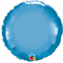"Blue Chrome Foil Balloon (18"" Round) 1pc"